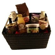 Picture of Basket Lunch with bio juice, coffee, marmelade, treacle, chocolates