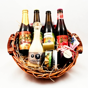 Basket mix with beer
