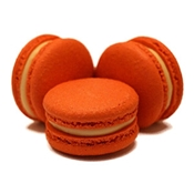 Orange macarons from jean-pierre