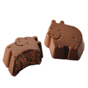 Picture of Hazelnut truffle hippos