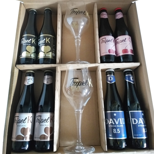Picture of Mixed organic beer box with 2 glasses