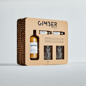 Picture of GIMBER Belgian ORGANIC ginger Giftbox Cocktail set